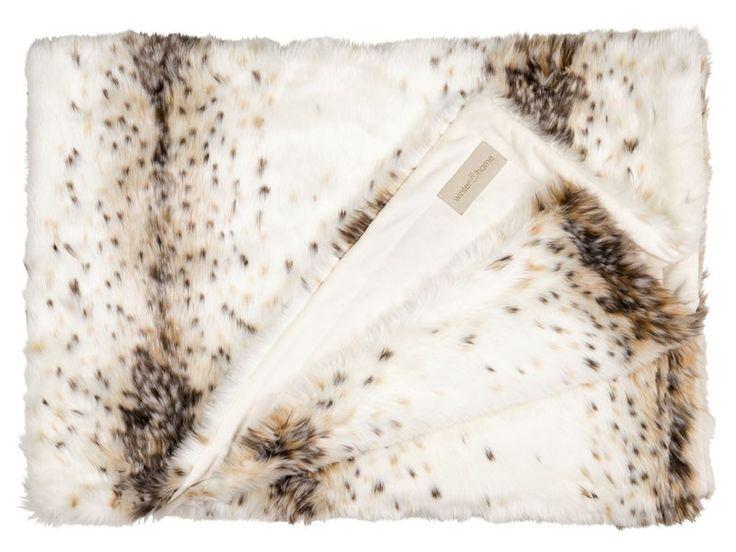 Koc futrzany/narzuta Winter Home Lynx 240x240