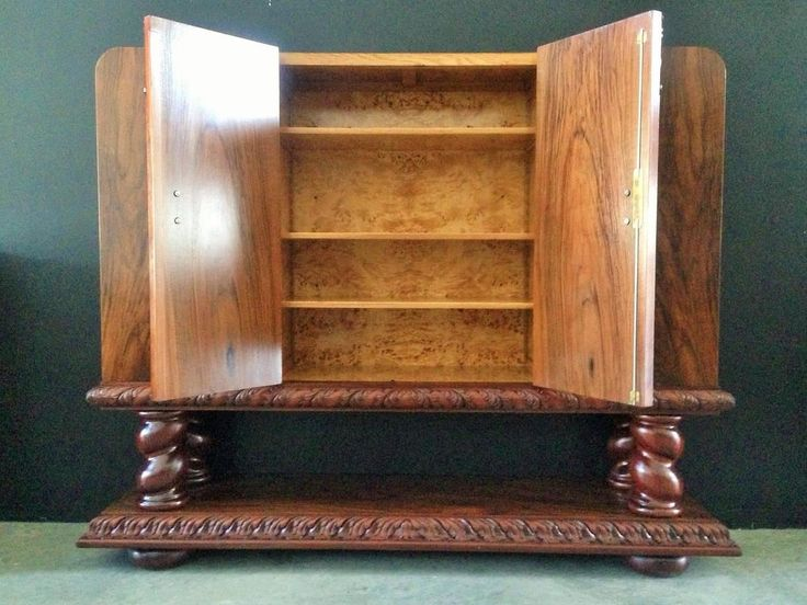 Incredible And Rare Art Deco Collector Cabinet, Bookcase And Storage Cabinet