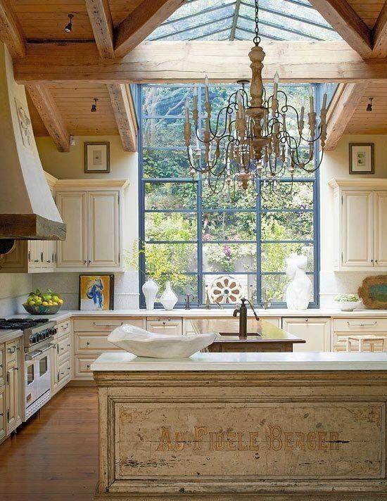 French Sun Lit Kitchen | Indeed decor
