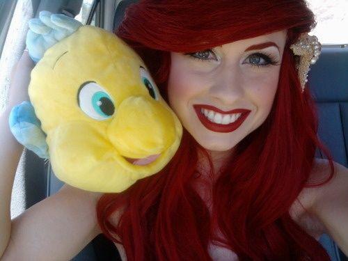 Ariel Makeup, big bang swoop and all