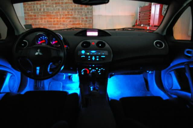 mitsubishi eclipse neon lights