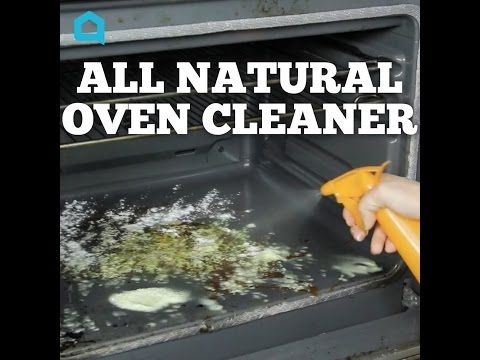 All Natural Oven Cleaner Peels from two Oranges Soak in jar full of Vinegar for a week Transfer liquid into spray bottle Cover oven surface with Baking Soda & spray thoroughly with Vinegar mixture Wait 20 minutes & wipe clean