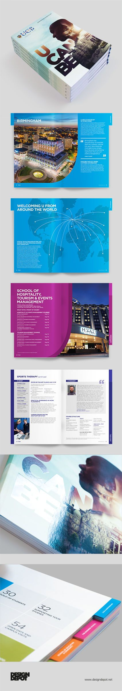 University College Birmingham prospectus, artwork, Birmingham, university, identity, branding, design depot, prospectus, education, graphics, Northamptonshire #DesignDepot