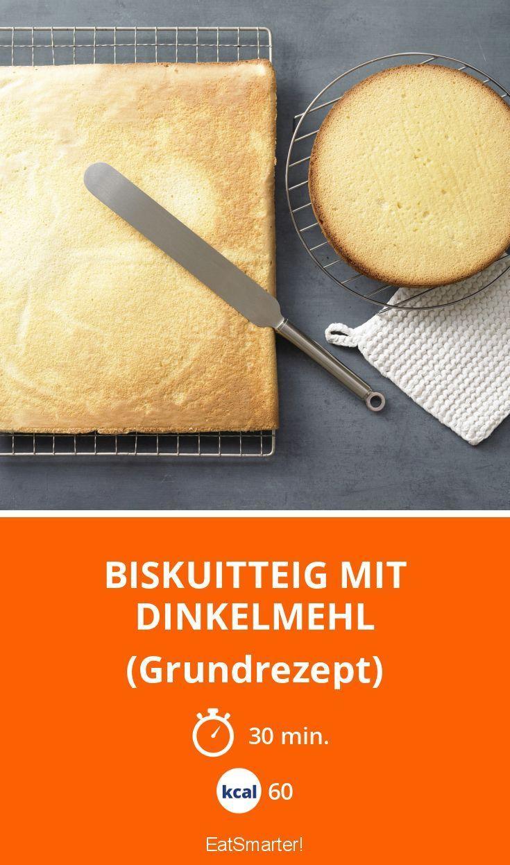 Biskuitteig mit Dinkelmehl - (Grundrezept) - smarter - Kalorien: 60 Kcal - Zeit: 30 Min. | eatsmarter.de
