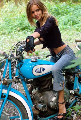 Cool Stuff We Like Here @ CoolPile.com ------- << Original Comment >> ------- Girls do look sweet on a bike!