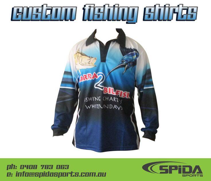 Custom fishing shirts for your tournament or fishing club! http://spidasports.com.au/sublimated-fishing-shirts/