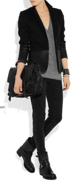 biker chic (FILEminimizer), #fashion, #outfit, #dress,