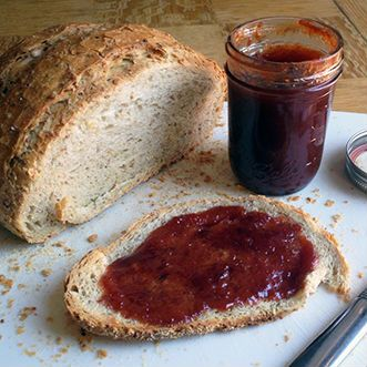 Crazy-easy loquat jam: 12 C seeded, halved loquats, 6 C sugar, 6 C water - cook, squuuuush up with immersion blender. :)