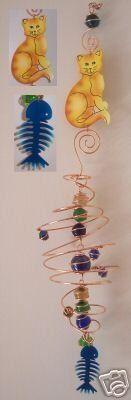 Glass Suncatcher Mobile - Cat by Spoontiques. $8.99