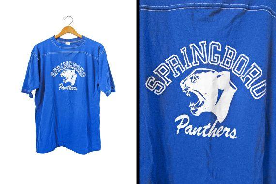 Vintage 70s Panthers Jersey Springboro Ohio by MemoryVintage
