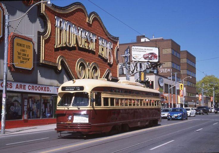 TTC Toronto PCC 4500 Original Slide Bathurts at Bloor Honest Ed's