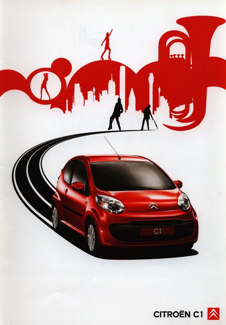 https://flic.kr/p/F9nz1j | Citroen C1;  2005_1 | front cover car brochure by worldtravellib World Travel library