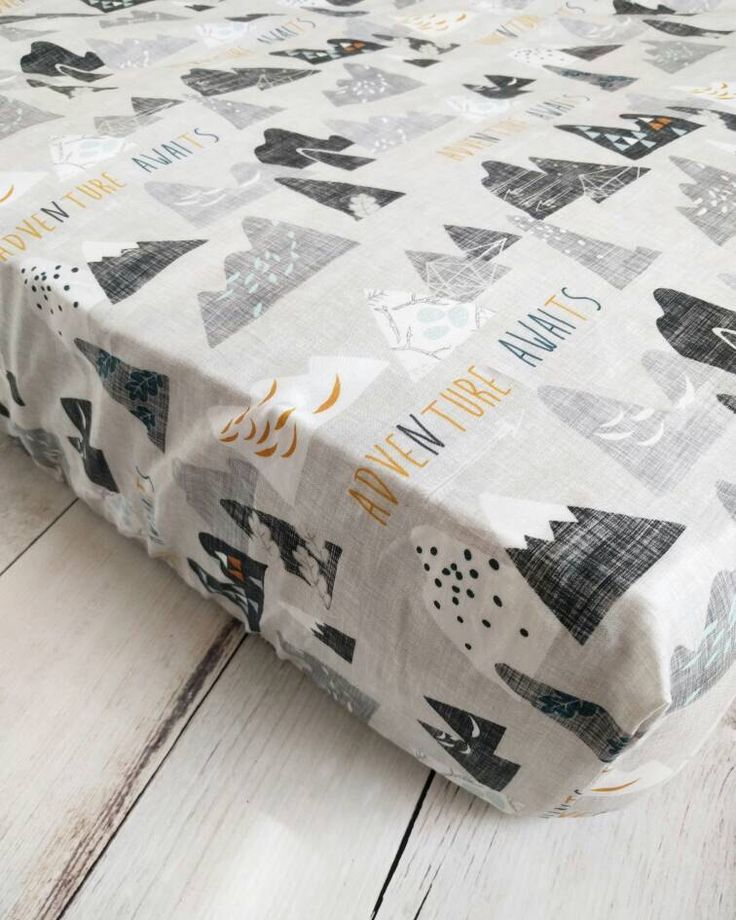 Mountain Fitted Crib Sheet for Baby Boy Nursery - Adventure Awaits Fitted Crib Sheet - Woodland Fitted Crib Sheet - by TheCuddlyQuilt on Etsy https://www.etsy.com/listing/483275328/mountain-fitted-crib-sheet-for-baby-boy