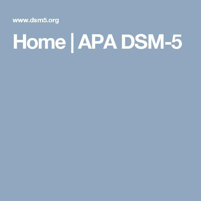 Home | APA DSM-5