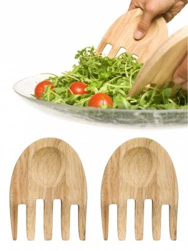 Oval oak hands salatbestikksettAv eik.Størrelse: 150 x 110 x 13 mmEmballasje: Windowbox