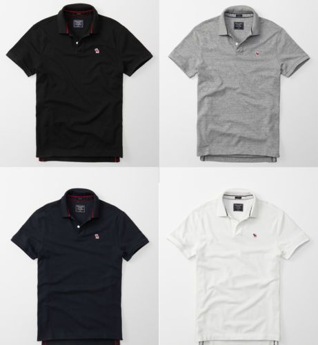 New-Abercrombie-amp-Fitch-Men-039-s-Classic-Polo-NWT-Medium-Size
