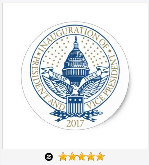 Trump Pence President Inaugural Logo Inauguration Classic Round Sticker #JustSold #ThankYou :) http://www.zazzle.com/trump_pence_president_inaugural_logo_inauguration_classic_round_sticker-217080721444867492