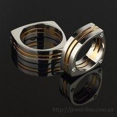 Оригинальные треугольные обручальные кольца