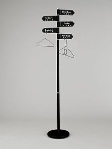 City S Free Standing Coat Rack Stand Black With 5 Swivel City S Hangers CR25BK | eBay