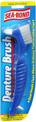 #oral #Sea-Bond Dental Brush makes cleaning dentures, retainers and mouthguards easy.   Made in the USA