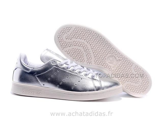 Adidas Stan Smith Argent Blanc