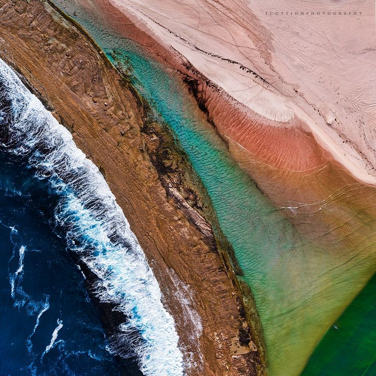 Kalbarri Rainbow - The Murchison River Mouth, located in Kalbarri, a beautiful place to photograph from the air :)  If you look closely that's a person in  kayak in the bottom right :)