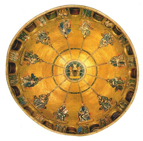 San Marco - The empty throne or hetoimasia, surrounded by the twelve Apostles