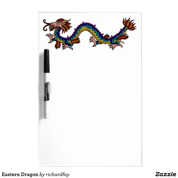 Eastern Dragon Dry Erase Board.  30% Off with code CREATIVEDEAL  Offer is valid through November 3, 2017, 11:59 PM PT.  #dry_erase_board #dragon #eastern_dragon #Chinese_dragon #oriental_dragon #Asian_dragon #rainbow_dragon  #Zazzle