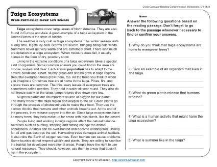 ecology and life science cross curricular Cross-curricular focus: life science what's eating you week 36 reading comprehension a description about the study of ecology and what it involves.