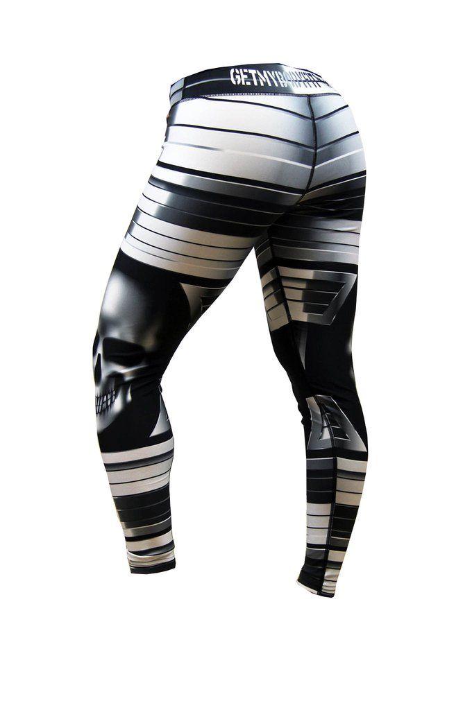 SKULL women's gym leggings GetMyBodyFit Bodybuilding Lab
