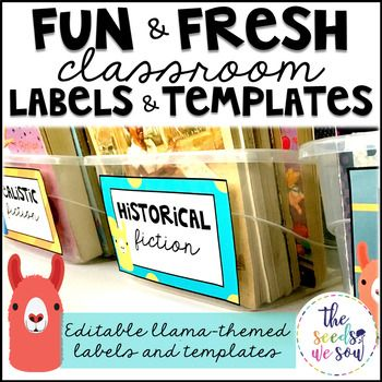 Need some blank, editable templates and labels to add that perfect llama-touch to your classroom? Look no further! This set is so versatile with all the design options. With it being editable, the possibilities are endless! Use these templates for: ✔ Classroom library labels ✔ Word walls ✔ Certificates/coupons ✔ Sterilite drawer