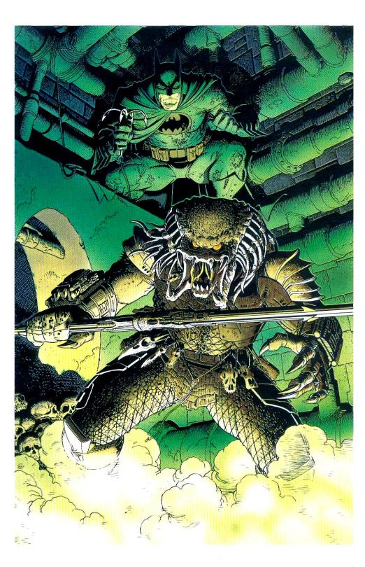 Batman vs. Predator by Arthur Adams