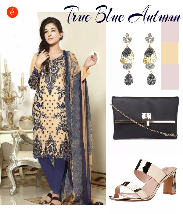 How to style ethnic wear. #style #ethnic #royalblue #gold #elegant #timeless