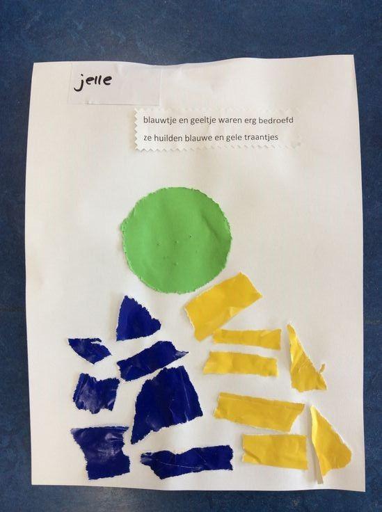 """""""blauwtje en geeltje waren erg bedroefd, ze huilden blauwe en gele traantjes"""""""