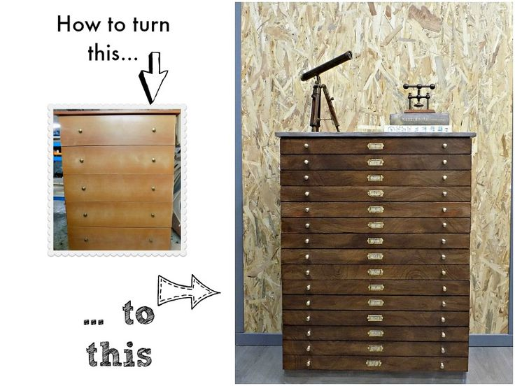 Map drawer cabinet by Art Decoration and Crafting