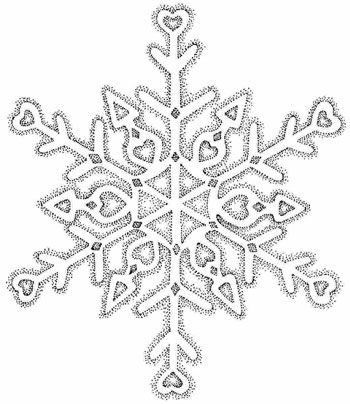snowflake hearrt tattoo design
