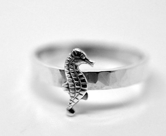 Sterling Silver Seahorse Ring, Animal Ring, Nautical Jewelry, Handforged Ring, Sea Jewelry, Seahorse Jewelry on Etsy, $39.40 AUD