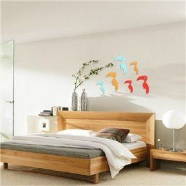 Hot Selling Cute Shining Powder Woodpecker 2-Pieces Wall Stickers