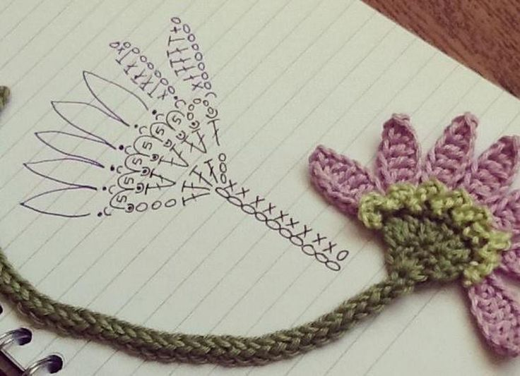 Crochet Flowers - Chart ✭Teresa Restegui http://www.pinterest.com/teretegui/ ✭