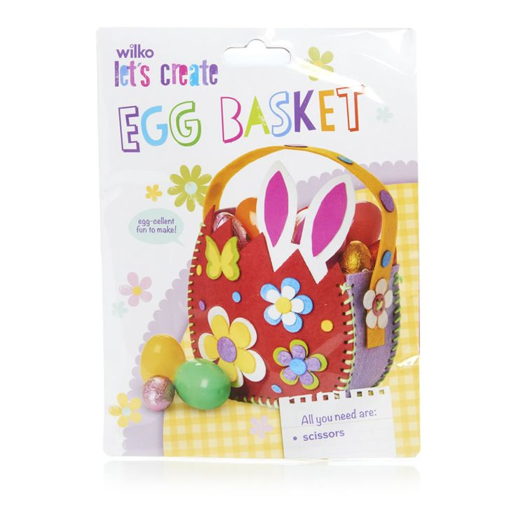 30 best wilko easter bonnet crafts images on pinterest wilko easter make your own egg basket bunny and chick assortment negle Images