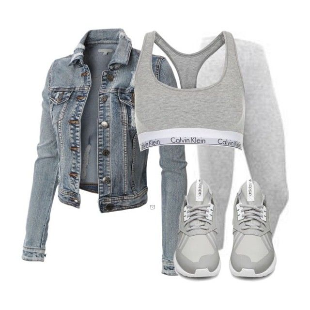 AFFORDABLE LOOK! LE3NO denim jacket ($44), Calvin Klein sports bra (the cheapest I've seen this is $40 via @davidjonesstore), BodyCentral leggings ($8.86) and Adidas sneakers ($190, Nike sell cheaper grey sneakers for $125) xx