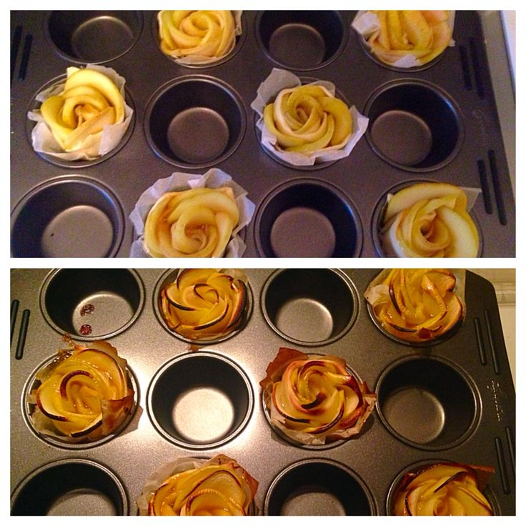 Apple roses: delicious, healthy and easy!! Made them last week: Apple, apricot preserve and puff pastry! ❤️