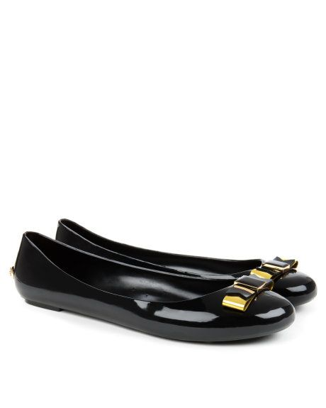 Bow detail pump - Black | Shoes | Ted Baker