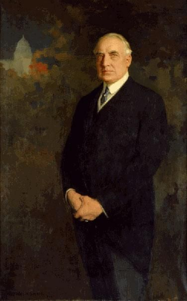 Official White House Portrait of Warren Gamaliel Harding ~ 29th President of the United States. (Term: 1921-1923).