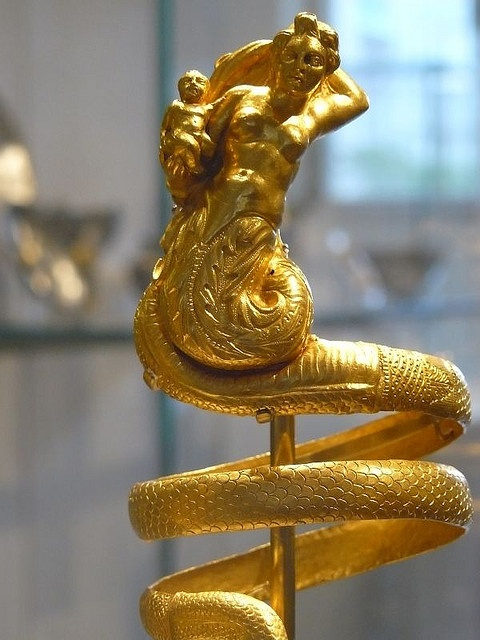Gold armbands Greek 200 BC