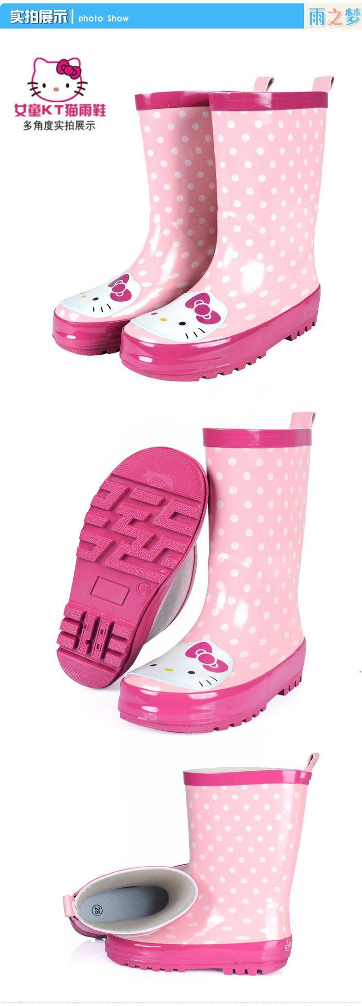 Детские резиновые сапоги для девочек воды обувь симпатичные родитель-ребенок дождя сапоги резиновые нескользящей воды обувь ребенка дети теплый дождь сапоги-Таобао мировой станции