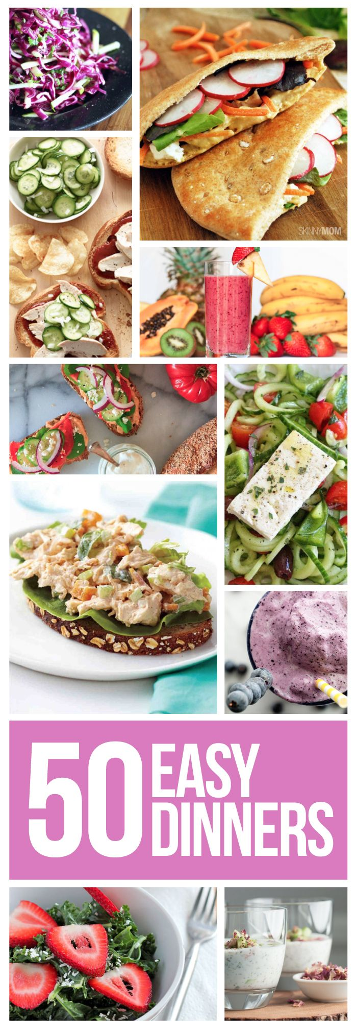 Here are 50 quick, easy, and healthy dinners for your busy weeknights!