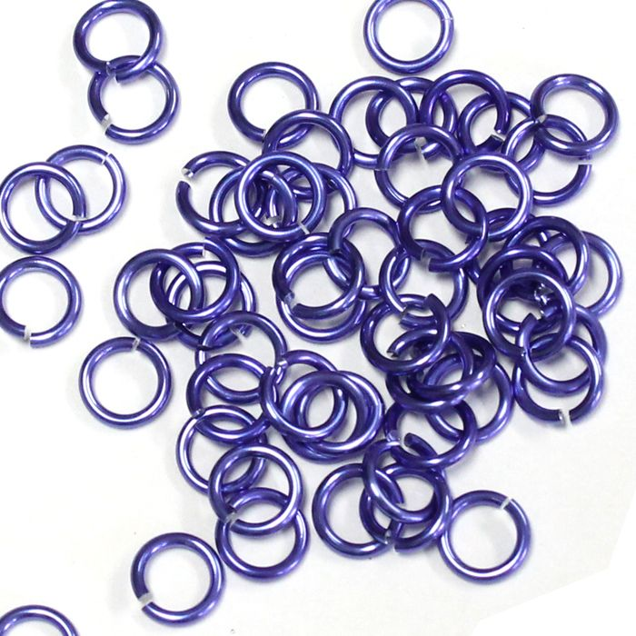 5mm (3/16 Inch) Purple Anodized Aluminum Jump Rings