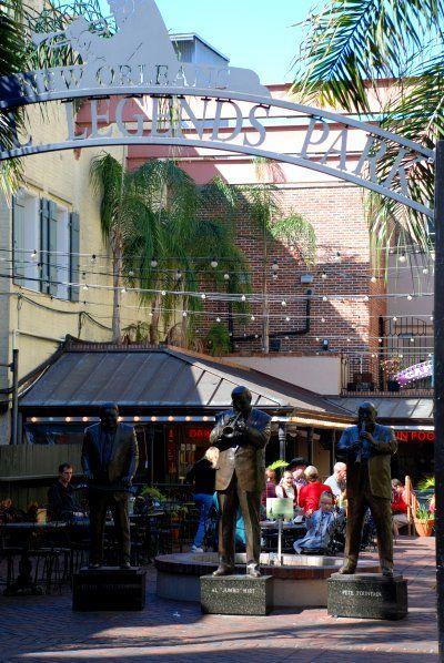 Barrio Francés de Nueva Orleans. El patio del Jazz