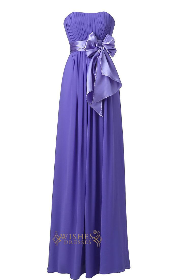 Lavender Strapless Sweetheart Floor Length Bridesmaid Dress For Wedding Am22